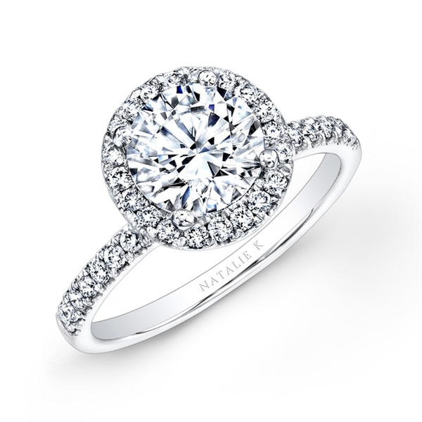 Natalie K diamond halo ring