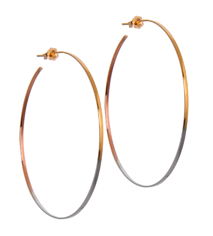 Lana Jewelry Colorblocked hoops in gold