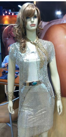 Sterling silver jacket and skirt by Vanna K