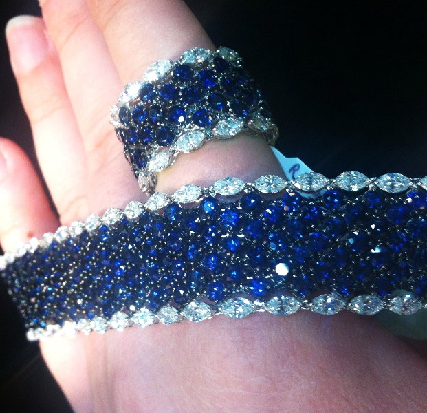 Matching sapphire set, Christophe Danhier