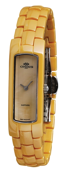Oniss Collection yellow zest watch