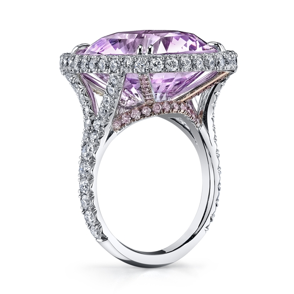 Omi pink sapphire ring
