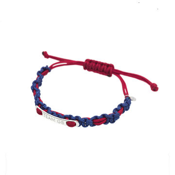 Links of London silver and cord Olympic-theme bracelet