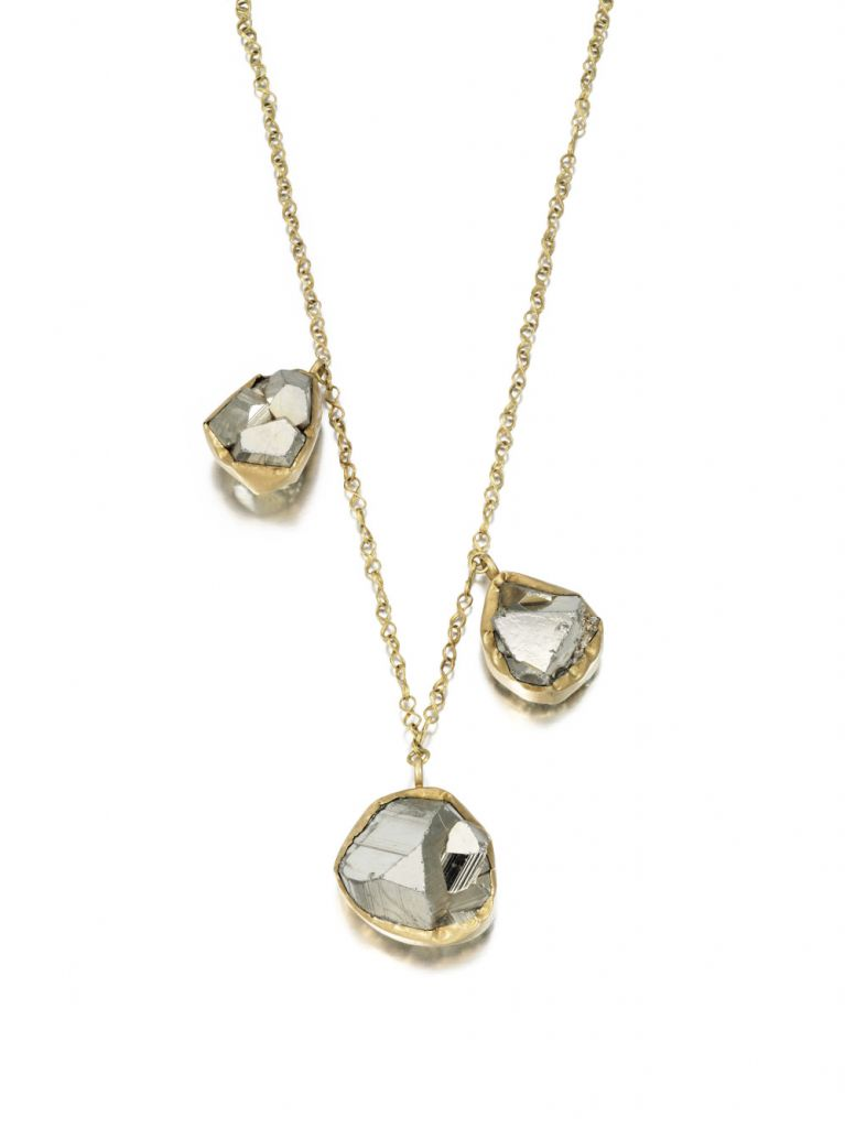 Pippa Small necklace in 18k gold with pyrite