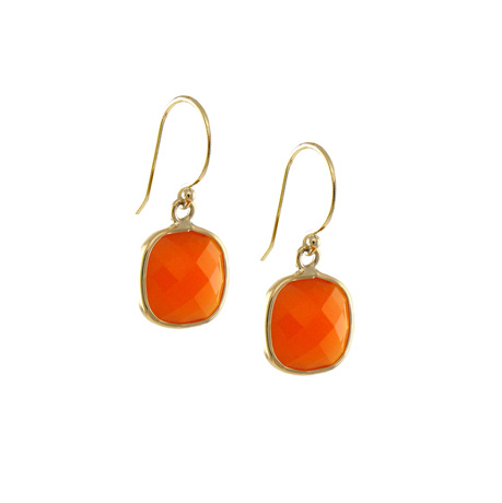 Jewelmak 14k gold carnelian earrings