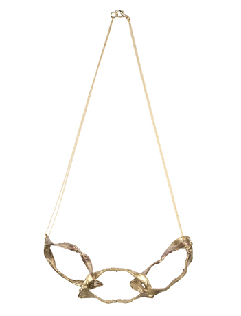 Brass jaw necklace by Bario-Neal