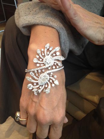 The Galaxy bracelet in platinum with diamonds from William Goldberg