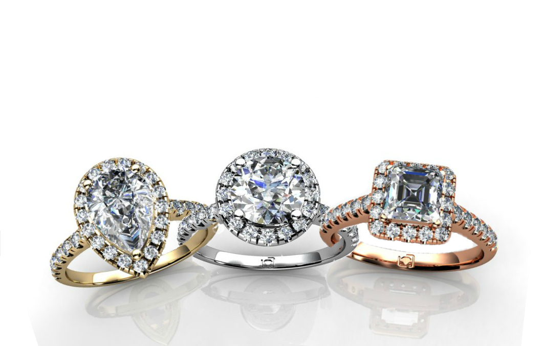 Union Diamond halo trio