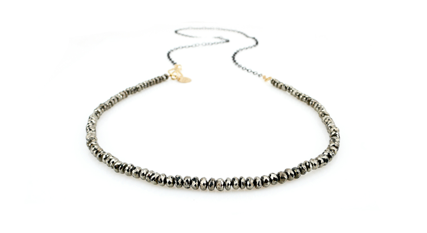 Robindira Unsworth necklace in 22k gold vermeil and pyrite