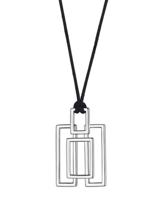 Silver Trafalgar pendant on black cord from Thistle & Bee