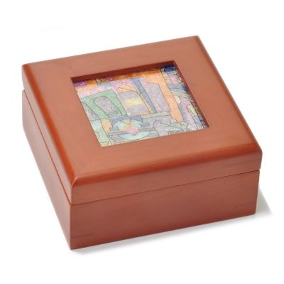 Gemstone mosaic keepsake box from Samuel Behnam Jewelry