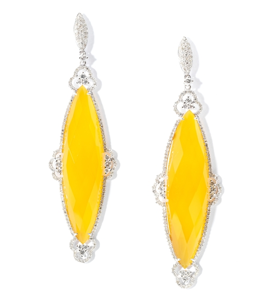 Rina Limor yellow agate earrings