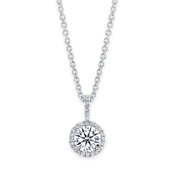 Rahaminov diamond solitaire pendant