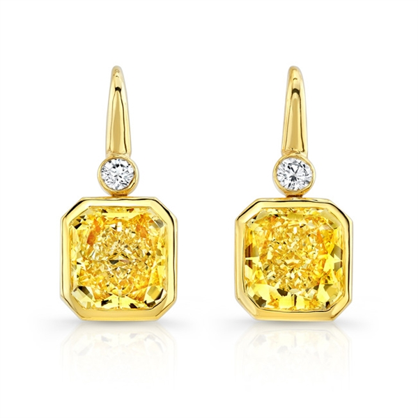 Rahaminov yellow diamond drop earrings
