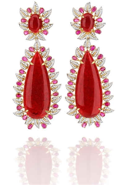 Goldesign red jade drops