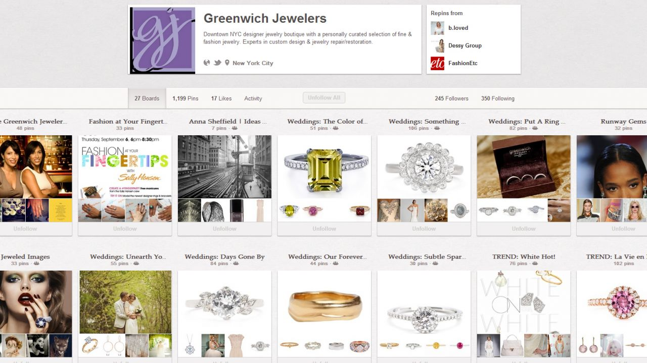 greenwich jewelers pinterest