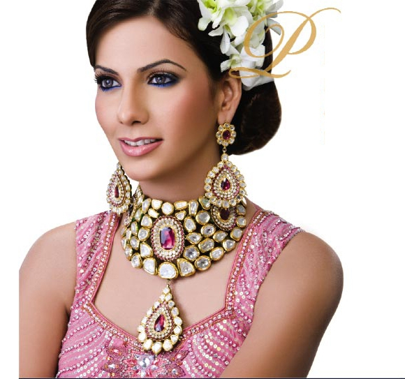 Kundan Polki statement collar