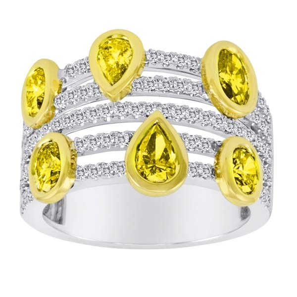 First Image Design yellow and white diamond band