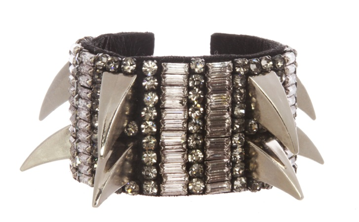 Deepa Gurnani leather and crystal bracelet