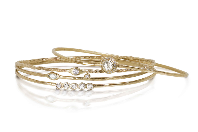 Just Jules diamond and gold bracelets