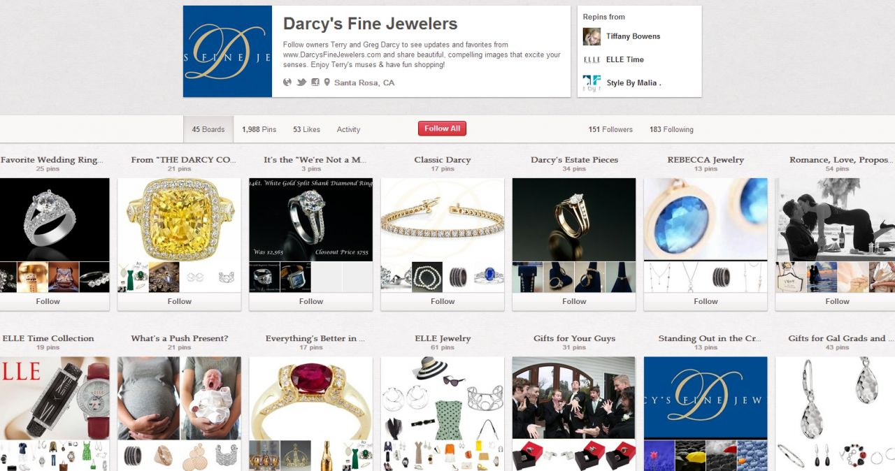 darcys jewelers pinterest