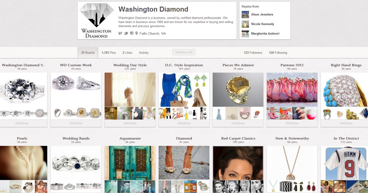 washingtondiam pinterest