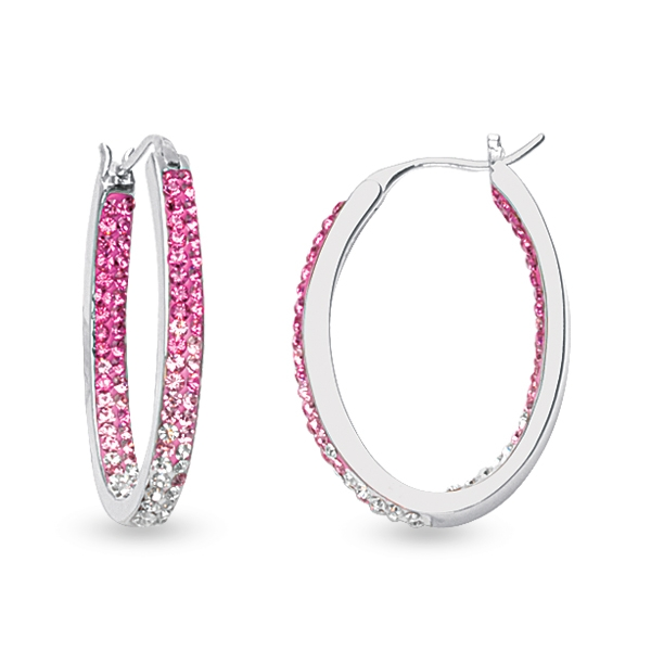 midas chain pink hoops