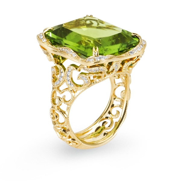 Parade Designs peridot ring