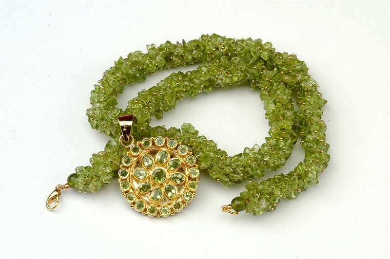 Indo AMerican Museums peridot rope necklace