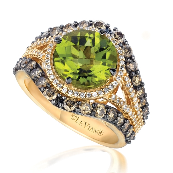 Le Vian Chocolatier Green Apple peridot ring