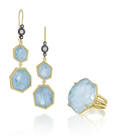 Lauren K aqua slice jewelry