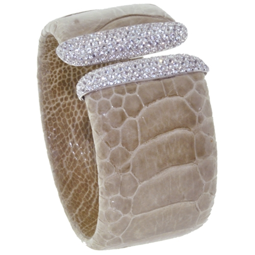 Royal Imports pepper ostritch cuff