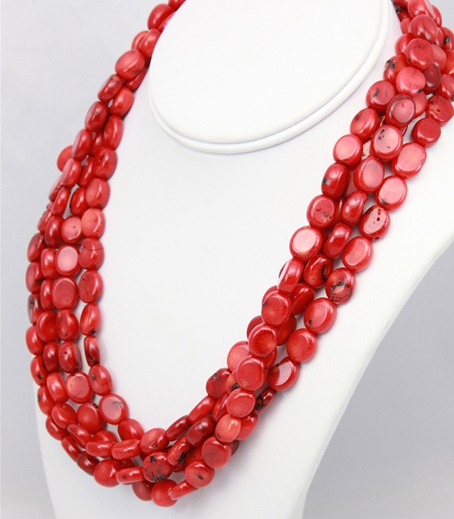 Nancy Johnson red coral necklace