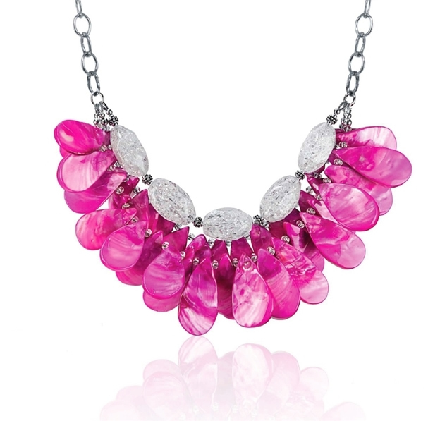 Judt Klimek hot pink necklace