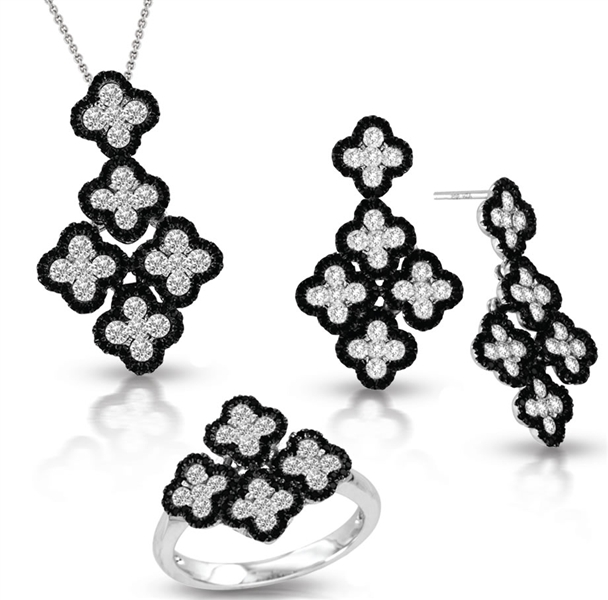 Asher Jewelry quatrefoil diamond collection