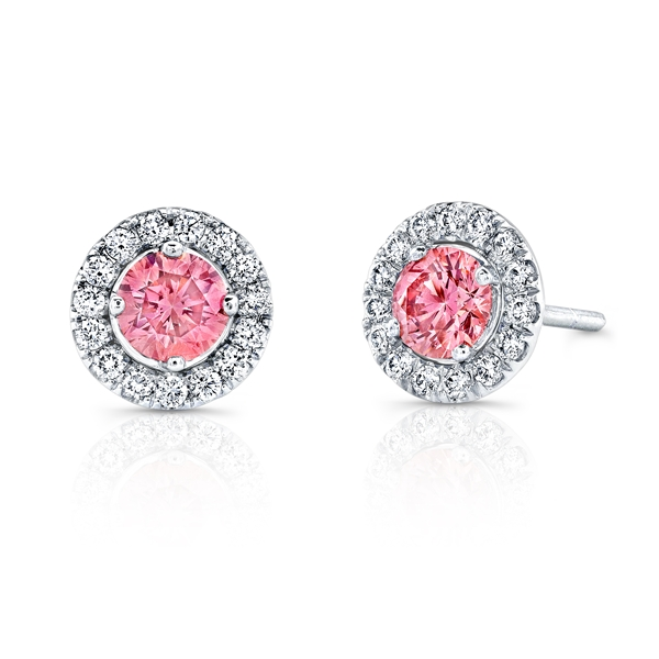 Kattan pink diamond earrings