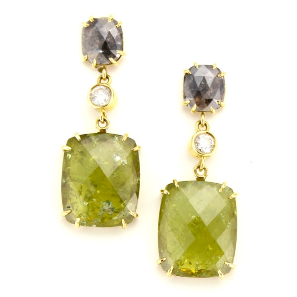 Pamela Huizenga tourmaline earrings