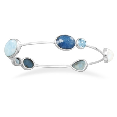 Silver Stars multicolor bangle