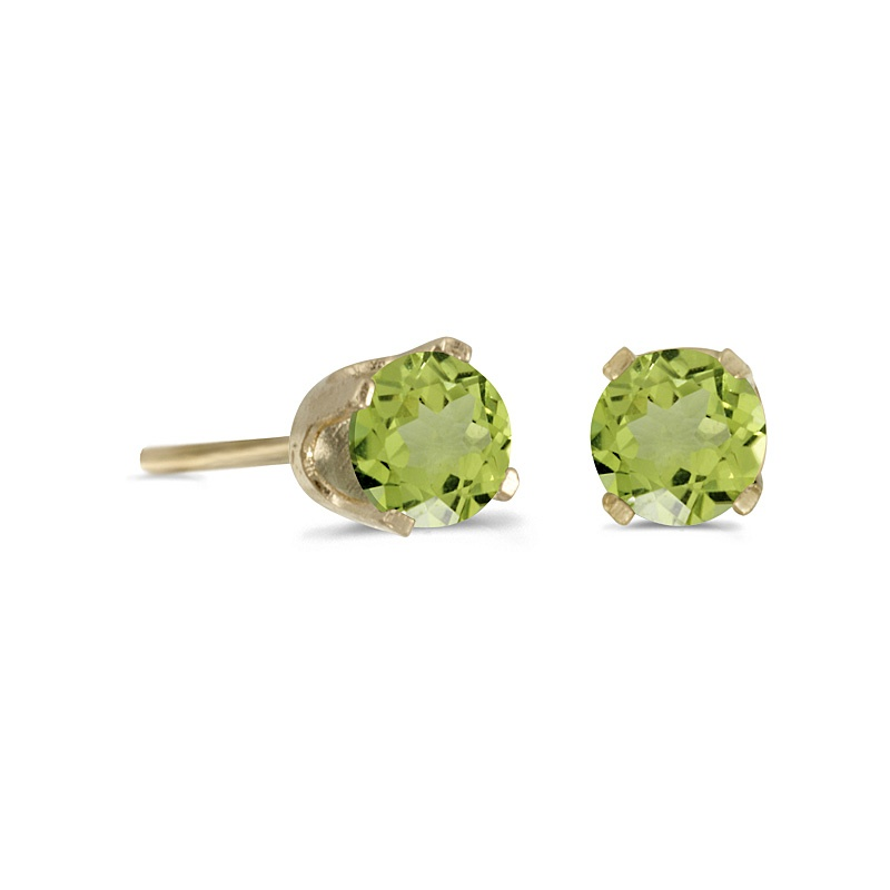 Color Merchants peridot stud earrings