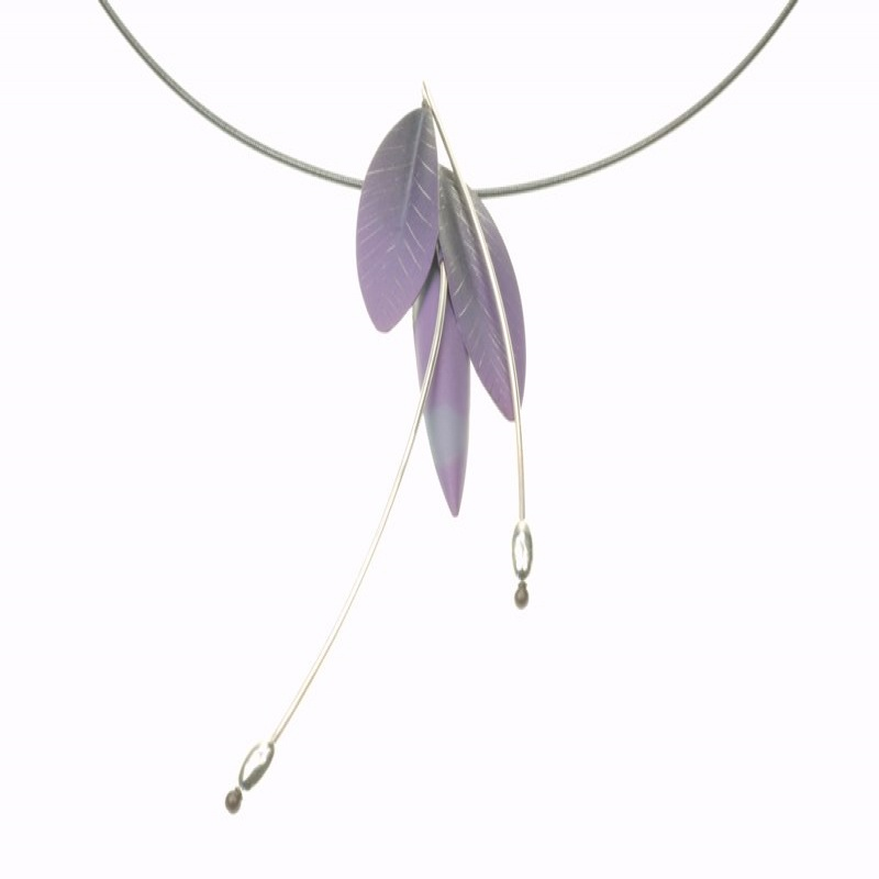 Mysterium Collection purple wire necklace