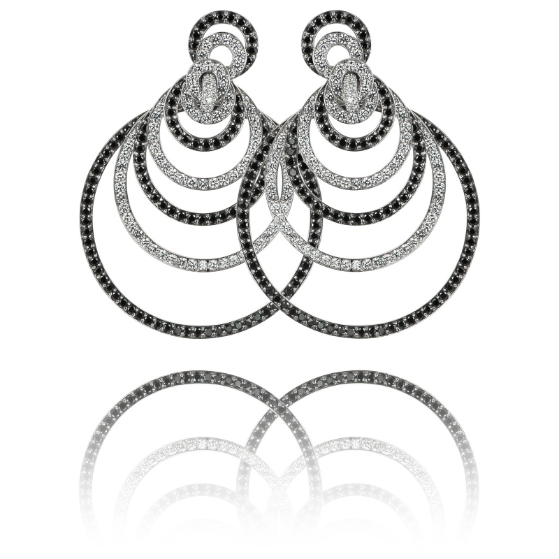 Sasha Primak black and white diamond earrings