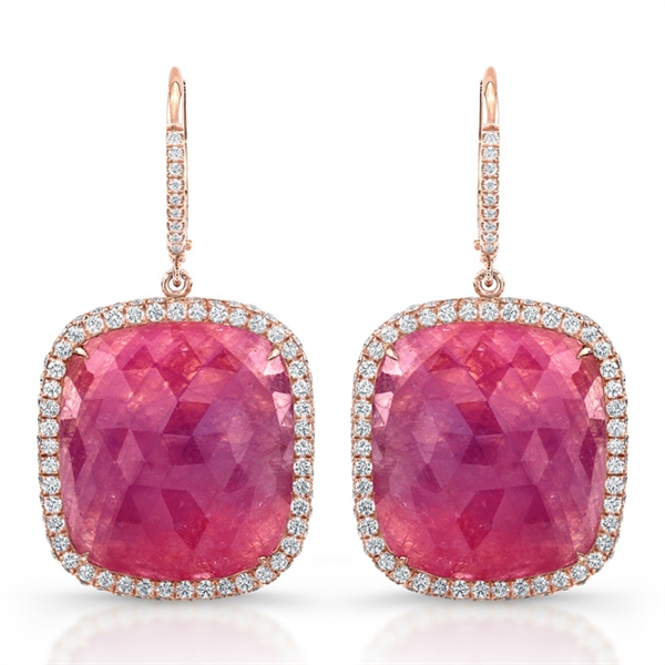 Rahaminov pink sapphire earrings