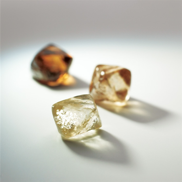 Rio Tinto rough champagne diamonds