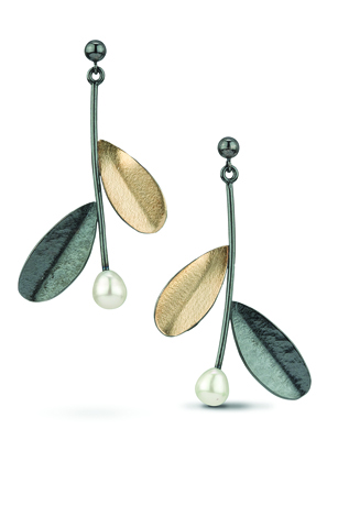 Cassavoy & Co. 18k gold and sterling bimetal earrings