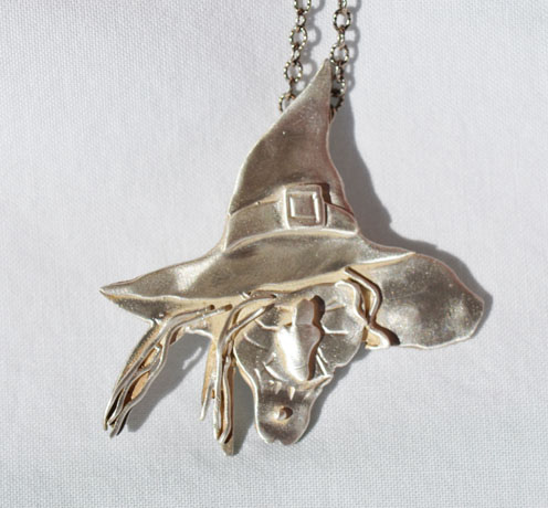 Sterling Witch necklace by Just Jules