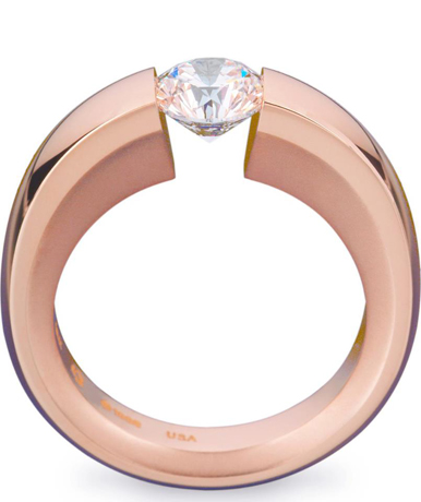 Steven Kretchmer rose gold enagagement ring