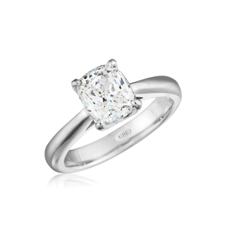 Leo Ingwer radiant-cut diamond ring in 14k white gold