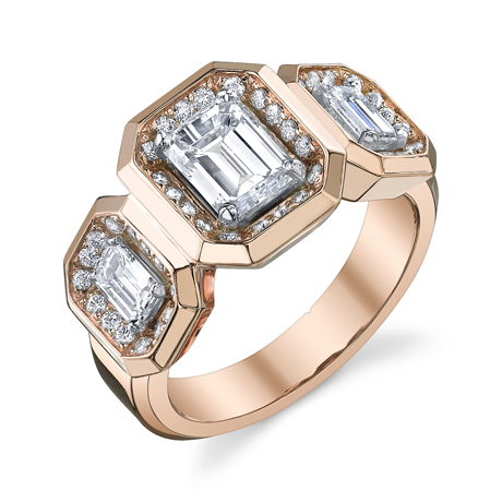 Michael B rose gold engagement ring