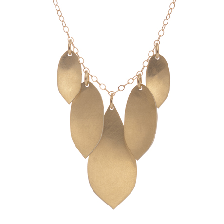 Rebecca Overmann 18k gold and sterling bimetal necklace