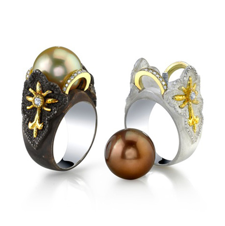 Victor Velyan gold and silver interchangeable rings